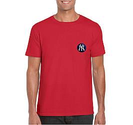 Мужская футболка New York, мужская футболка Нью Йорк, спортивная, брендовая, хлопок, красная, копия