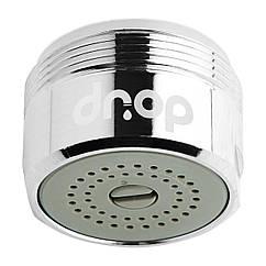 💧Водосберегающий аэратор насадка для смесителя DROP PM155HP, расход 2-8 л/мин, внешняя резьба 24мм, с функцией регулировки расхода воды