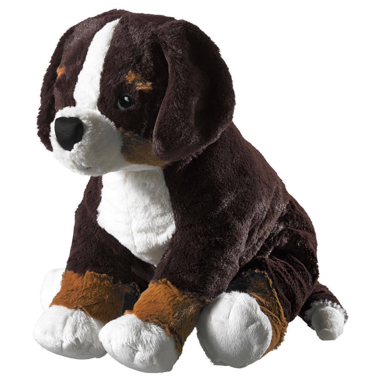 IKEA HOPPIG Мягкая игрушка, собака, высокогорье овчарка белая  (902.604.42)