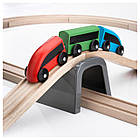 IKEA LILLABO Железная дорога, 20 шт., разноцветный  (003.200.54), фото 2