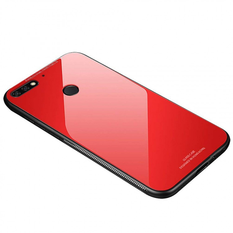 Чехол INCORE Blue Light Glass для Huawei Y7 2018 Red (PC-002333)