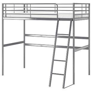 IKEA SVARTA Каркас кровати, серебро  (202.479.82)