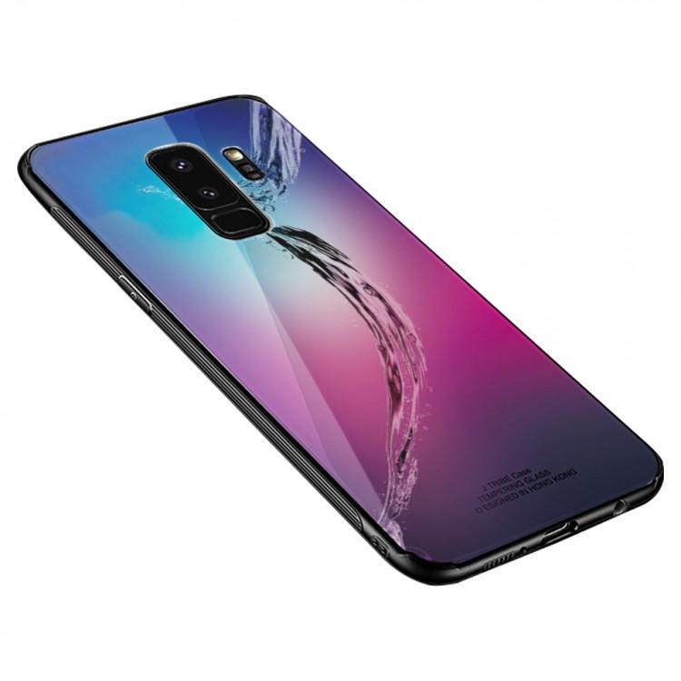 Чехол INCORE Blue Light Glass для Samsung Galaxy A6 Plus 2018 Water Wave (PC-002378)