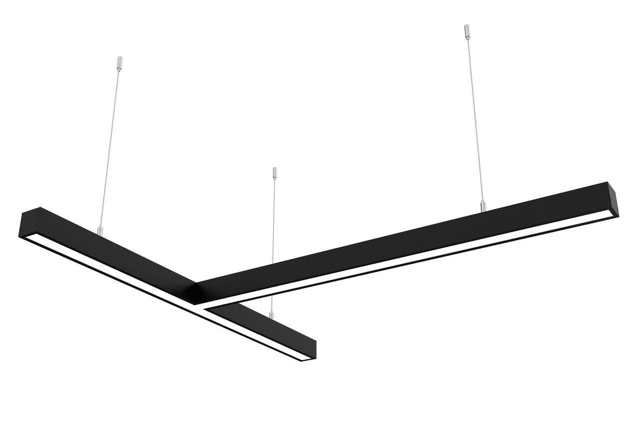 Линейный светодиодный светильник Z-LED 80Вт Т-образный черный (800*800), фото 1