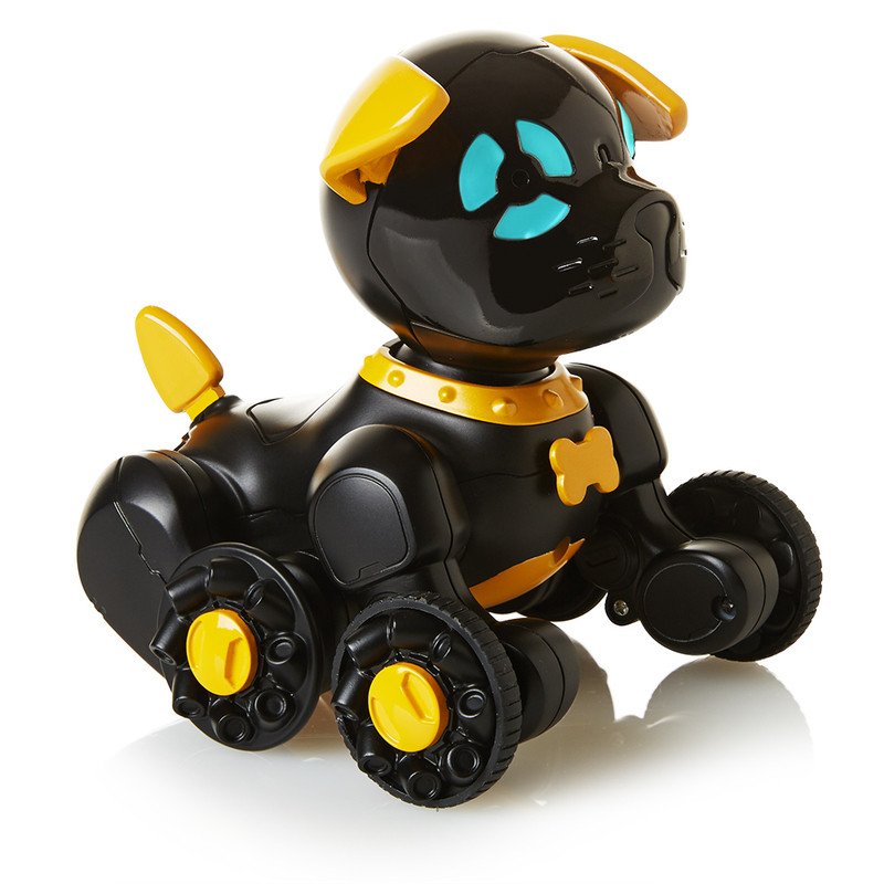 WowWee маленький интерактивный щенок Чип черный W2804/3819