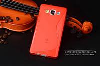 TPU чехол для Samsung Galaxy A3 A300 красный, фото 1