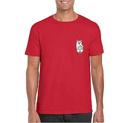 Мужская футболка Rip n Dip, мужская футболка Рип н Дип, спортивная, брендовая, хлопок, красная, копия