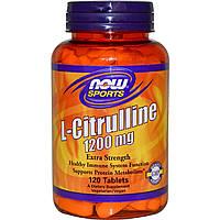 L-цитруллин (L-Citrulline) Now Foods 1200 мг 120 таблеток