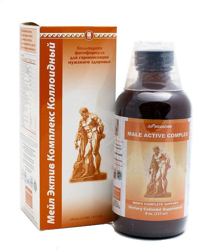 Мейл Эктив Комплекс США Коллоидная фитоформула Ad Medicine (для мужчин, простатит, аденома, эрекция, витамины)