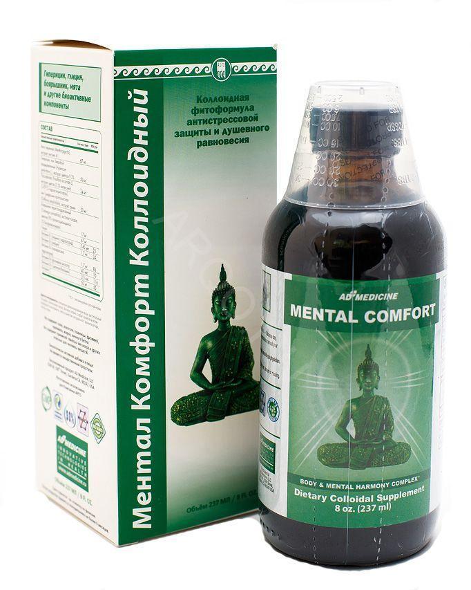 Ментал Комфорт Коллоидная фитоформула США Ad Medicine (для нервной системы, успокоительное, стресс, псориаз)