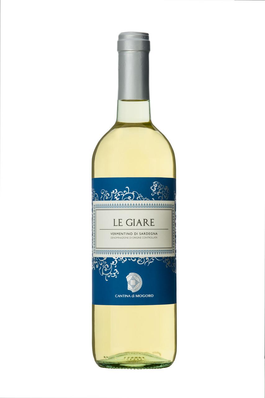 Белое сухое вино Vermentino di Sardegna D.O.C. LE GIARE (MOGORO), 750 ml