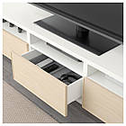 IKEA BESTA Тумба під телевізор з ящиками, білий, Инвикен шпон (492.057.50), фото 3