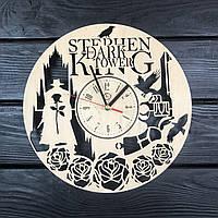 Круглые настенные часы из дерева «Тёмная башня», фото 1