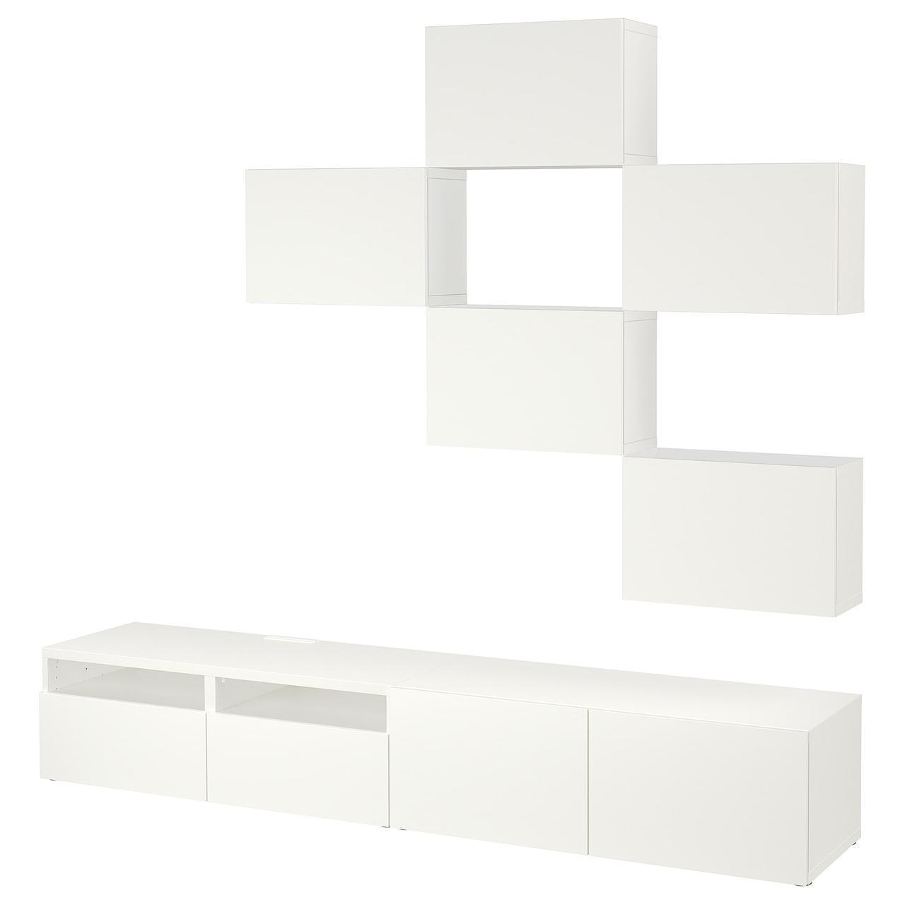 IKEA BESTA Тумба под телевизор, Лаппвикен белый  (591.916.39)