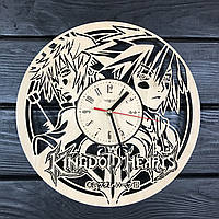 Оригинальные часы из дерева настенные «Kingdom Hearts», фото 1