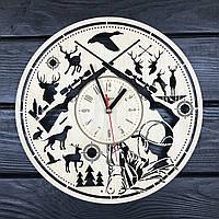 Дизайнерские круглые часы «Охота»