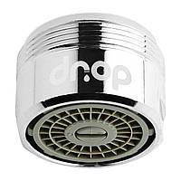 Водосберегающий аэратор насадка для смесителя DROP PM1055HP, расход 2-8 л/мин, внешняя резьба 24мм, с