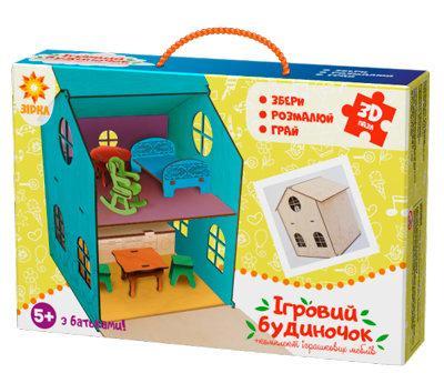 Деревянный 3Д конструктор Игровой домик 32 детали (286150)