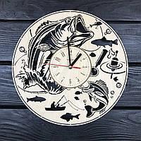 Дизайнерские круглые часы «Рыбалка»