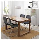 IKEA MORBYLANGA/VOLFGANG Стол и 4 стула, коричневый, обжаренный средний серый  (892.598.40), фото 2