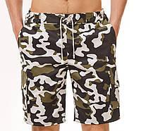 Шорты мужские камуфляжные YSTB Вайткамо с накладными карманами на резинке (цифра, милитари, короткие, модные)