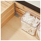 IKEA GODMORGON/ODENSVIK Шкаф под умывальник с раковиной с 4 ящиками, глянцевый серый  (291.858.52), фото 4