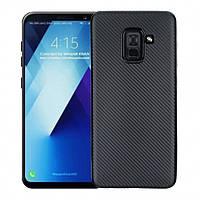 Чехол Fashion TPU Carbon для Samsung A8 2018 SM-A530 Black (PC-001845)