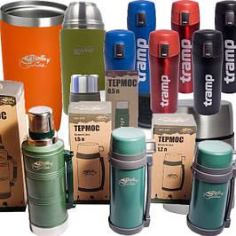 Термосы и термочашки для питья - непроливайки, термосы для первых и вторых блюд