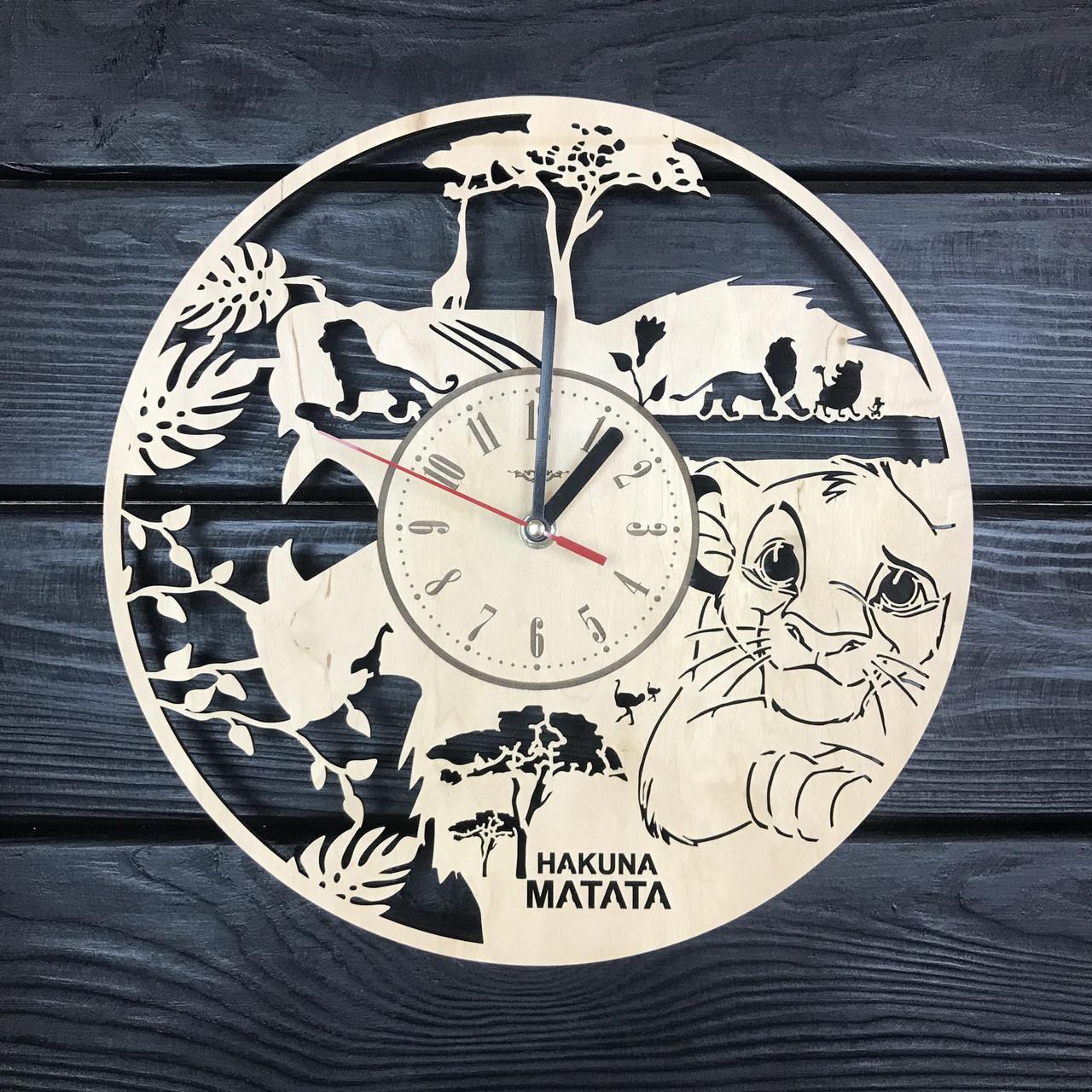 Необычные хендмейд часы в детскую «Король Лев. Симба»