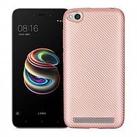 Чехол Fashion TPU Carbon для Xiaomi Redmi 5A Rose Gold (PC-001879)