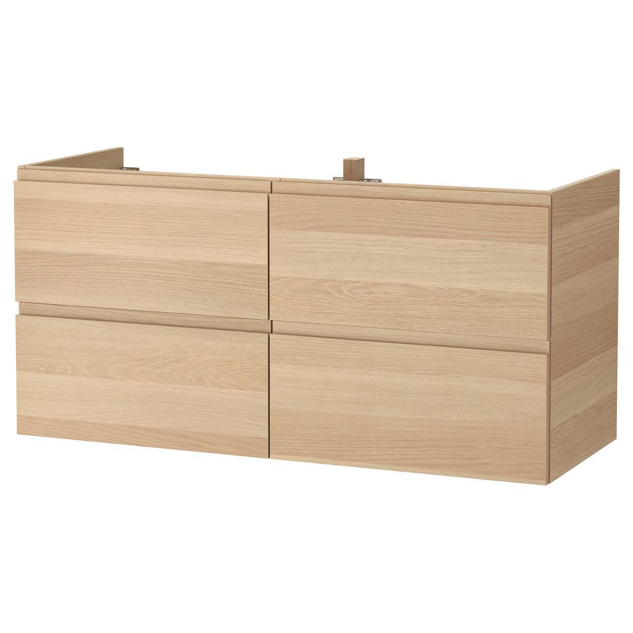 IKEA GODMORGON Шкаф под умывальник, Дуб беленый  (003.441.49)