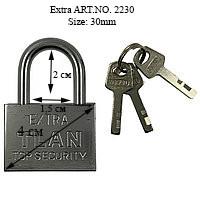 "Замок ""Extra"" Экстра, Серебристый, TLAN размер душки - 30мм NO. 2230"
