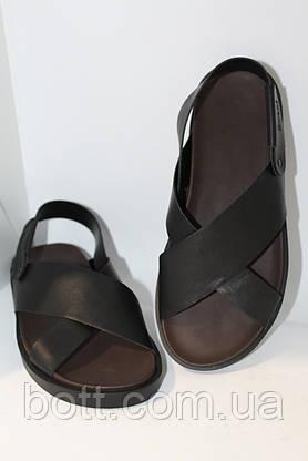 Босоножки кожаные черные, фото 3