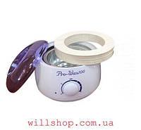Воскоплав баночный Pro-Wax WH-001 + Кольца для воскоплава (50шт) WaxKiss Вместе дешевле!