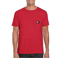 Мужская футболка Tommy x KITH, мужская футболка Томи Хилфигер, спортивная, брендовая, хлопок, красная, копия