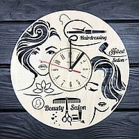 Настенные часы из дерева в женский салон красоты