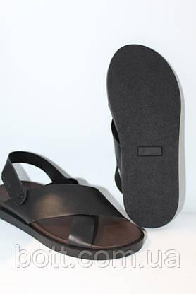 Босоножки кожаные черные, фото 2