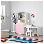 IKEA STUVA/FRITIDS Стол с ящиком для игрушек, белый, светло-розовый  (392.796.33), фото 2