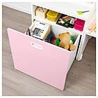 IKEA STUVA/FRITIDS Стол с ящиком для игрушек, белый, светло-розовый  (392.796.33), фото 3