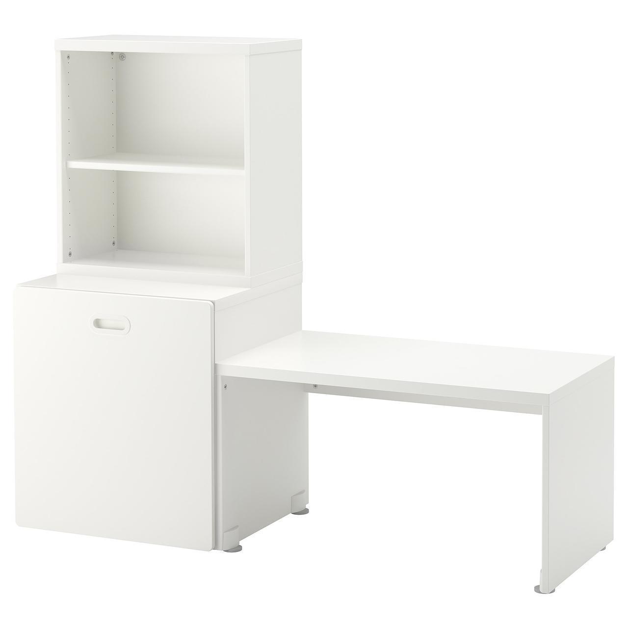IKEA STUVA/FRITIDS Стол с ящиком для игрушек, белый, белый  (992.796.30)