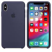 Чехол Apple Silicone Case для iPhone XS Max Midnight Blue OEM (79280)