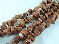 Крошка из коричневого авантюрина 45см,крупная