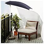 IKEA APPLARO Садове крісло, коричнева морилка бежевий Холло бежевий (390.483.84), фото 2