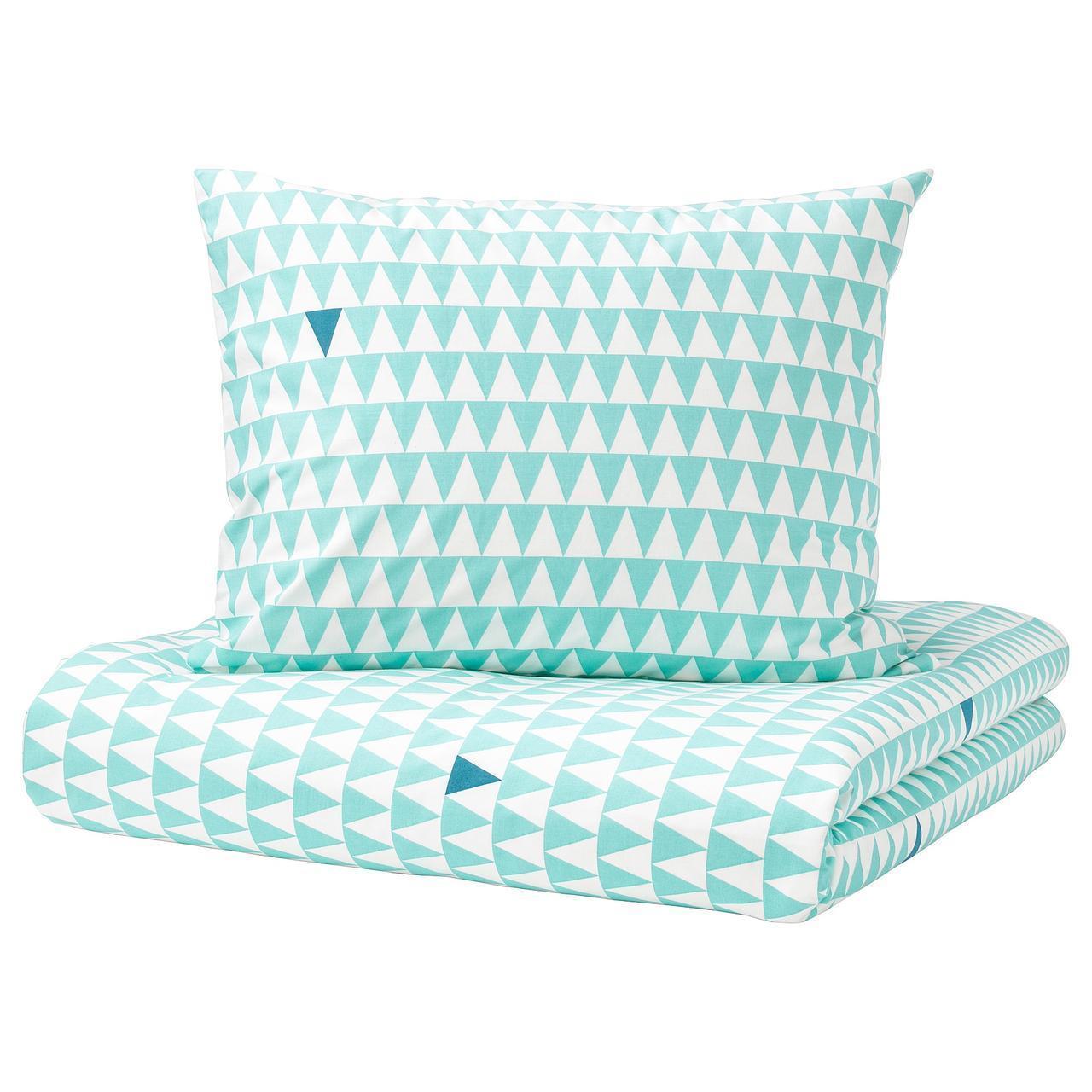IKEA STILLSAMT Комплект постельного белья, светлая бирюза  (003.586.50)