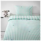 IKEA STILLSAMT Комплект постельного белья, светлая бирюза  (003.586.50), фото 4