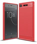 Чехол силиконовый  TPU на Sony XZ1 Compact красный