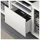 IKEA BESTA Тумба под телевизор с ящиками, белый, Сельсвикен глянцевый/белый (291.940.31), фото 3