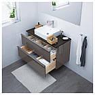IKEA GODMORGON/TOLKEN/TORNVIKEN Шкаф под умывальник с раковиной 45 см, глянцевый серый, антрацит  (391.857.38), фото 2