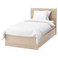 IKEA MALM Кровать высокая с 2 ящиками для хранения, белый стаинедед дубовый шпон, (591.323.10)