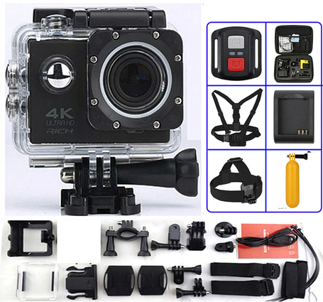 Водонепроницаемая спортивная экшн камера F60, фото 2